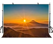 7x5ft Sunset Backdrop and Rolling Mountain Photographic Background Studio Photography Props