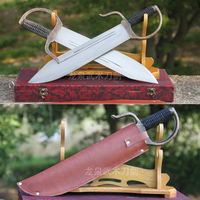 High grade Master Wing Chun Butterfly Knives Unique Bart Cham Dao Wing Chun Swords carving handle copper for collection use