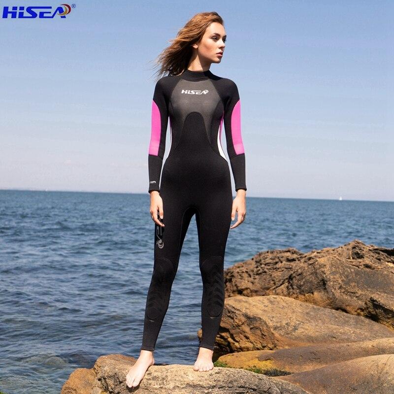 Hisea Professional 3mm կանանց Neoprene Wetsuit - Սպորտային հագուստ և աքսեսուարներ - Լուսանկար 2