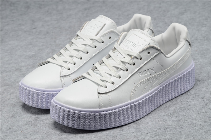 2018Original PUMA X RIHANNA Suede Cleated Creeper Women's Second Generation Rihanna Classic Basket Tone Simple Badminton Shoes