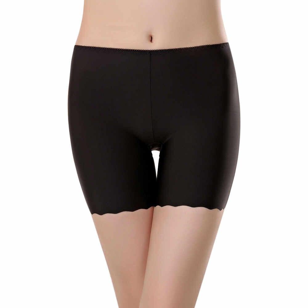 Kobiety bez szwu szorty ochronne spodnie wysokiej jakości bielizna bezpieczeństwa w połowie talii gorące spodenki elastyczne spodnie spodnie #3 $