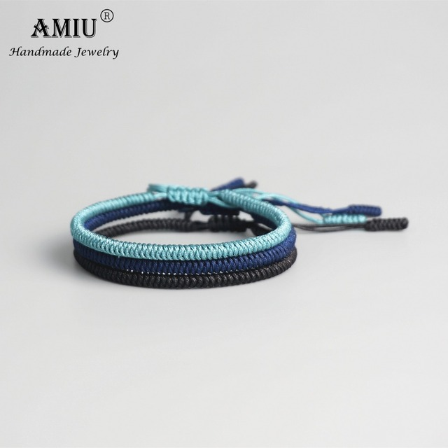 AMIU Multi Color Tibetan Buddhist Good Lucky Charm Tibetan Bracelets & Bangles 5