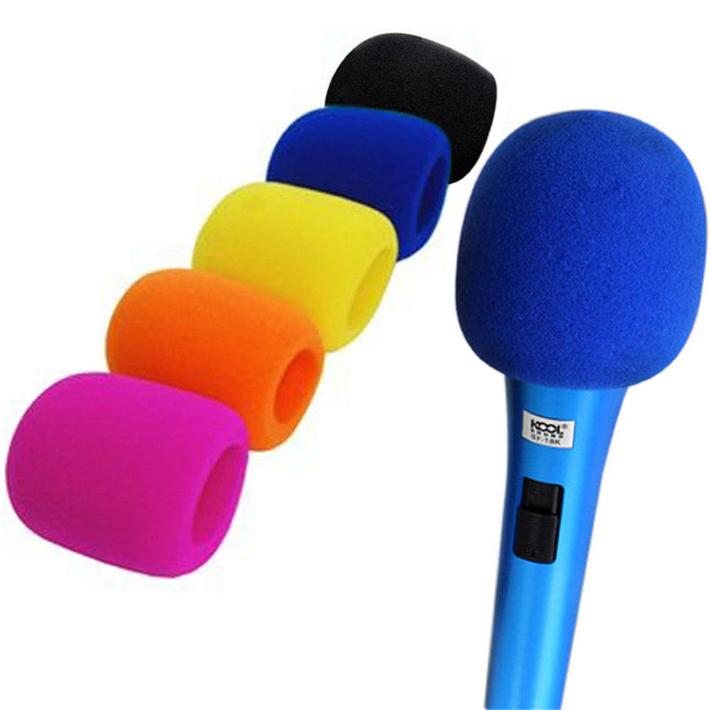 ycdc brand 5pcs microphone foam mic cover wind protective windscreen grill audio shield 5 colors. Black Bedroom Furniture Sets. Home Design Ideas