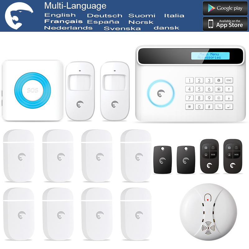 Etiger S4 Android ISO App Wireless PSTN GSM Home Alarm System  Smart Home Burglar Security Alarm System Kit PIR infrared free shipping android app wireless gsm home alarm system sim smart smoke home burglar security alarm system kit pir infrared