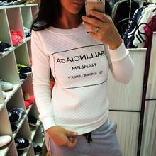 Moleton Feminino White Black fashion Women Hoody Spring Autumn Long Sleeve Casual Sweatshirts Women Letter Print Hoodies S-XL