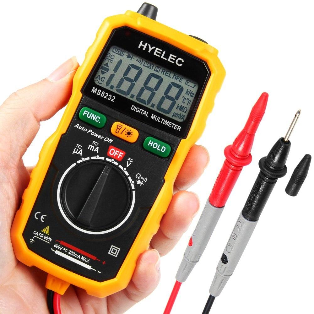 HYELEC MS8232 Non Contact Mini Digital font b Multimeter b font DC AC Voltage Current Tester