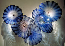 Most Popular Art Decorative Mouth Blown Glass Wall Plates(China)