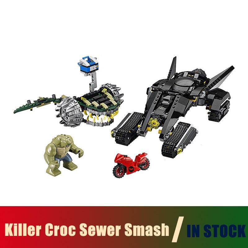 Compatible Lego batman 76055 Models Building Toy super heroes Killer Croc Sewer Smash 07037 Building Blocks Toys & Hobbies конструктор lego super heroes 76055 бэтмен убийца крок