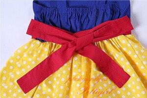 Image 5 - Pettigirl Snow White Girls Costumes Summer Dress Yellow Dot Baby Girl Cotton Dress