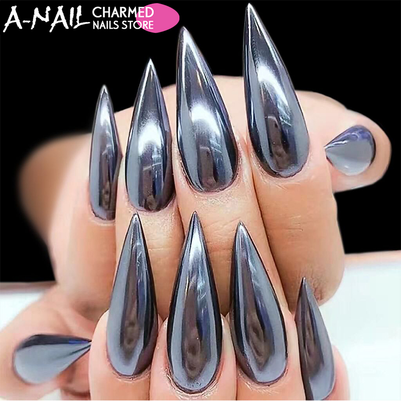 Detail Feedback Questions about 1g/jar Mirror Black Nail Glitter ...