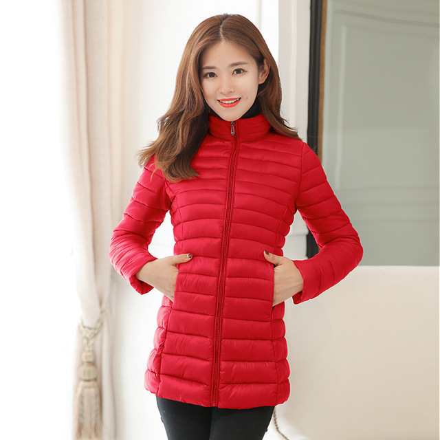 Parka Jacket Women Plus Size Clothing 4XL Spring Autumn Winter Coat Manteaux Femme Made Of Goose Feather Parka Pink Black 2018 2