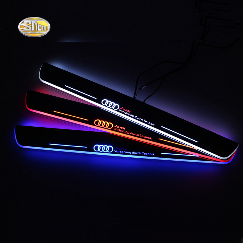 SNCN LED door sill For Audi A5 S5 RS5 2012 2013 2014 2015 Led moving door