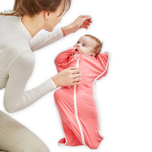 Baby Cotton Zip-Up Swaddle [6 colors]