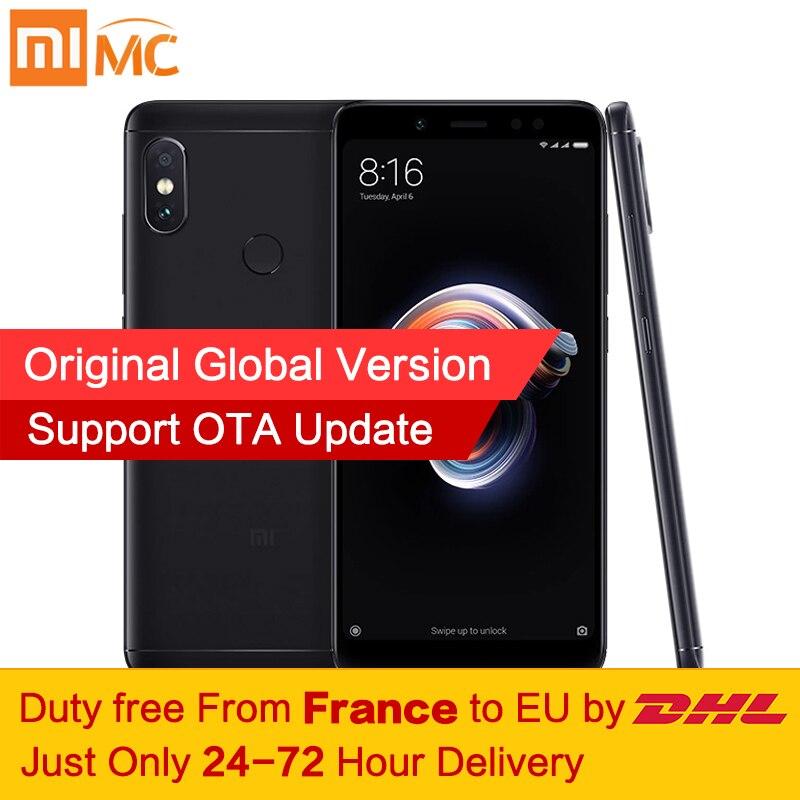 Tax Free! глобальная версия Xiaomi Redmi Note 5 4 ГБ 64 ГБ 5,99 полный Экран двойной Камера мобильный телефон Snapdragon 636 восьмиядерный 4000 мАч