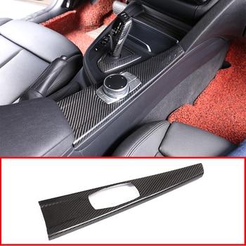 For BMW 3 Series GT F30 F33 F36 F36 2013-2018 Car Accessories LHD Real Carbon Fiber Interior Multimedia Panel Cover Trim 1 Pcs