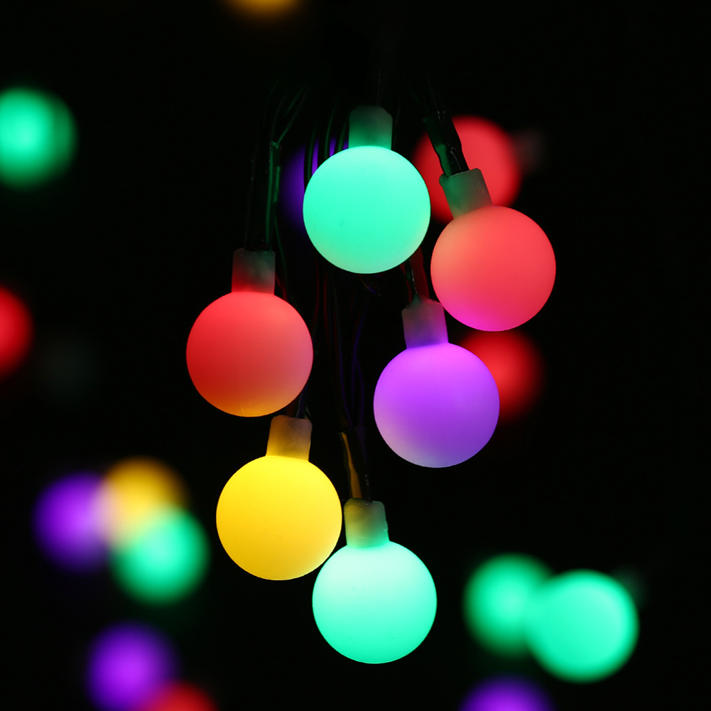 Online get cheap strip ball aliexpress alibaba group tsleen outdoor garden fence decorations ball string lights 50 leds solar powered low power consumption christmas baanklon Choice Image