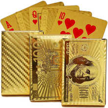 INSTOCK GGold Foil Poker US Dollar Style Plastic Poker Playing Cards Waterproof Cards 3 Style