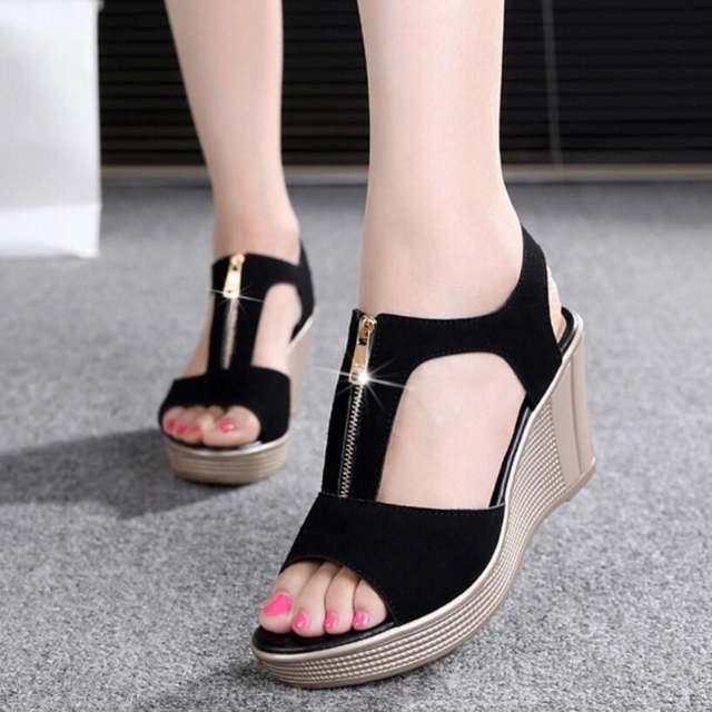 426720c63b5c76 Online Shop 2018 Women Sandals Summer Platform Sandals High Heels Sandal  Shoes Women Ladies Sandal Heels Wedge sandalia plataforma