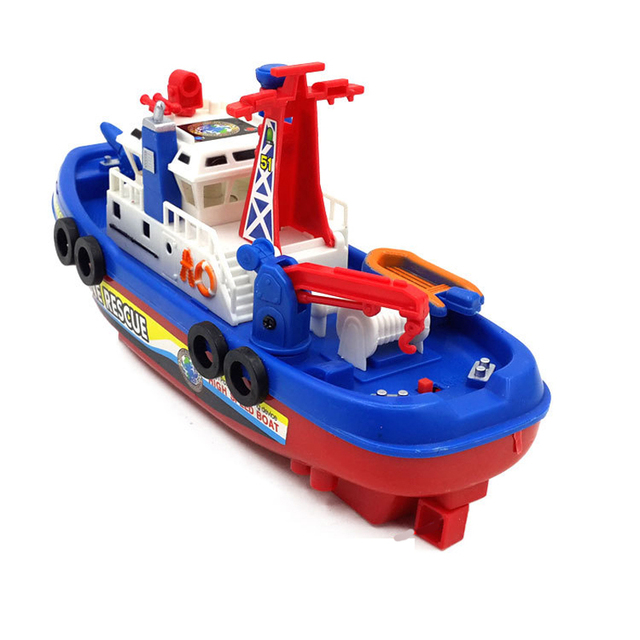 New Flashing and musical Not RC Boat model toys Water jet boat clippers Classic toys brinquedos Summer water toy