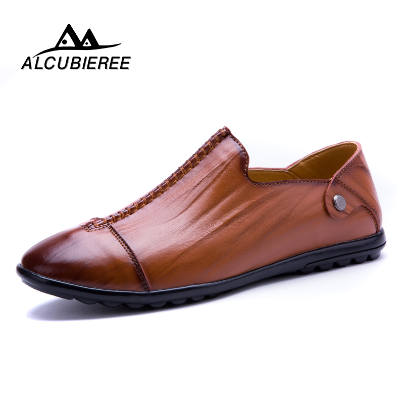 Brand Designer Sneakers Men Genuine Leather Shoes Loafers Causal Boat Shoes Men Moccasins Leather Luxury Footwear Male Adult
