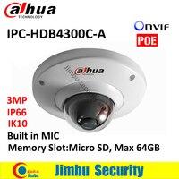 DAHUA Original IPC HDB4300C A 1 3 3 Megapixel Water Proof Vandal Proof IR 30m Network