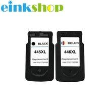 Einkshop 2pcs PG-445 CL-446 XL PG 445 PG445 CL446 Ink Cartridge For Canon Pixma IP2840 MX494 MG2440 MG2540 MG2940 Printer цена в Москве и Питере