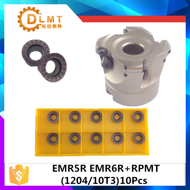 EMRW 5R 50 22 4T EMRW 5R 63 22 4T EMRW 5R 80 27 5T EMR 5R 100 32 6T face mill milling cutter cnc milling tools for round inserts free shiping r200 5r 50 22 4t 1 face mill head cutter shell mill 50mm for rckt10t3mo free shipping