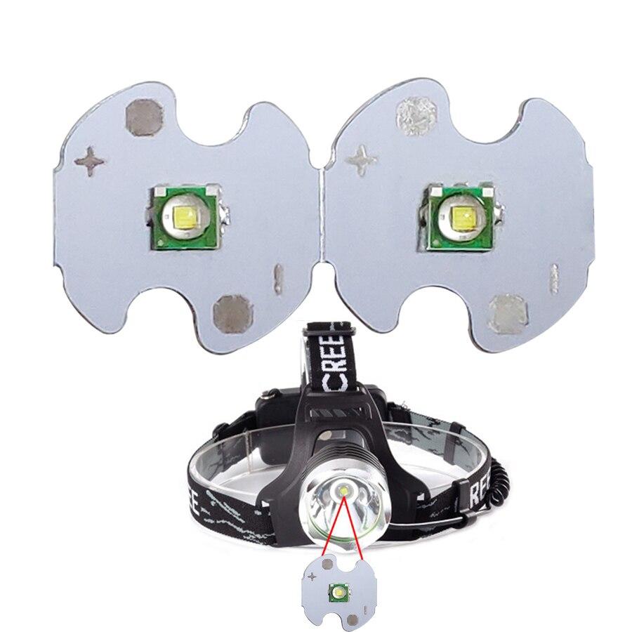 15PCS T6 LED White 1W High Power LED 6500K White LED Light Bulbs 3.2V -3.6V Emitter Diode With 14mm PCB For DIY