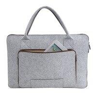 Big Capacity Wool Felt Fits For 11 15 6 Inch Laptop Handbag Shoulder Bag Protective Case