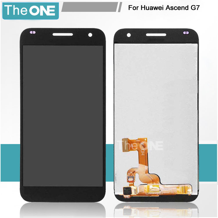For Huawei Ascend G7 LCD screen display with touch screen digitizer assembly black or white free shipping replacement original touch screen lcd display assembly framefor huawei ascend p7 freeshipping