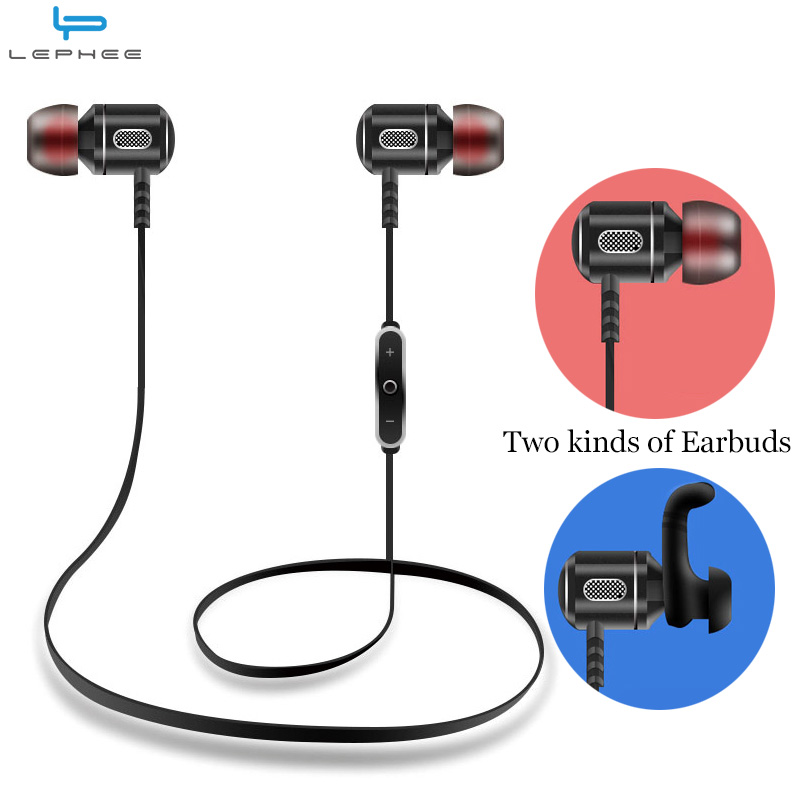 LEPHEE Metal Bluetooth Earphone For iPhone 8 X 7 Samsung S8 Xiaomi A1 Wireless Sport Running Stereo In Ear Hook Earbuds Headset sfa08 new earphone wired in ear stereo metal headset piston earbuds universal for xiaomi iphone 7 sony samsung xiaomi s4 s6 mp3