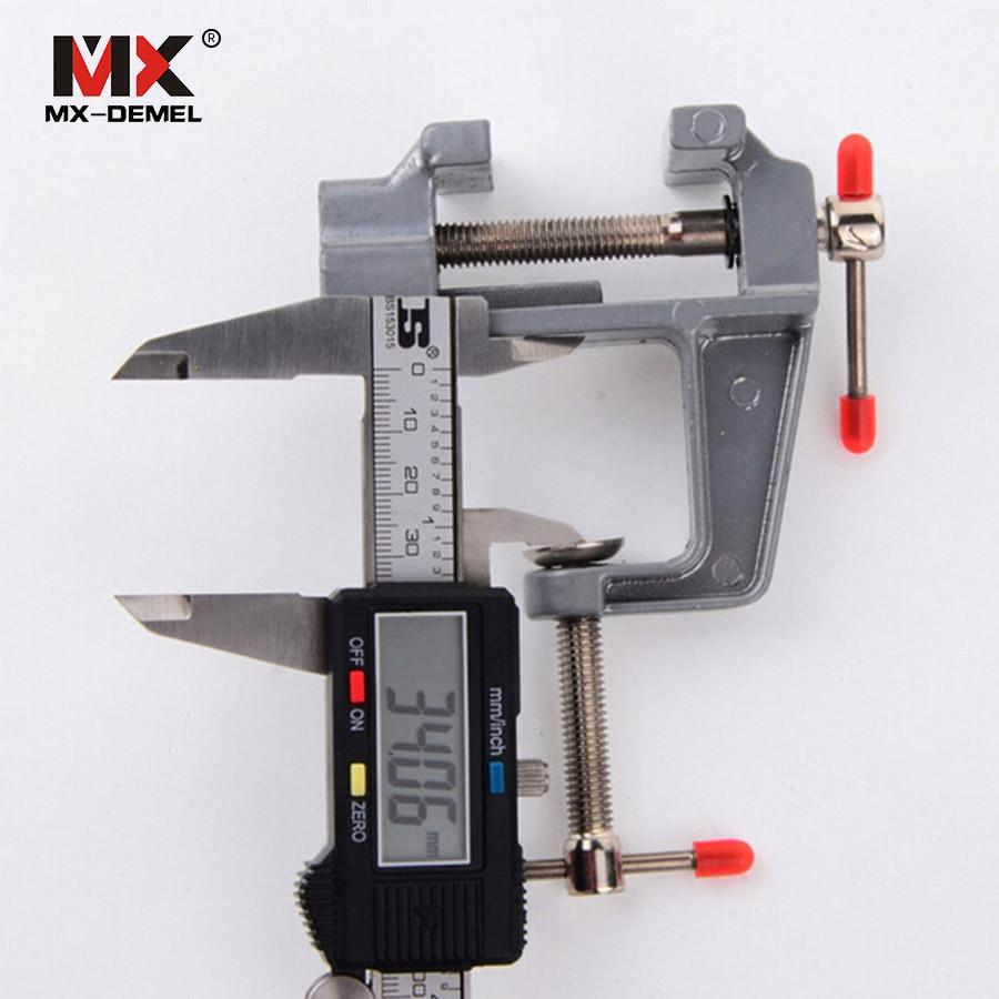 MX-DEMEL 1PCS Mini morsetto da banco in alluminio con perno girevole - Macchine utensili e accessori - Fotografia 2