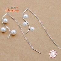 Yinfeng 925 Silver Long Chain Earrings For Women High Quality Genuine Grade AAAA Water Drop