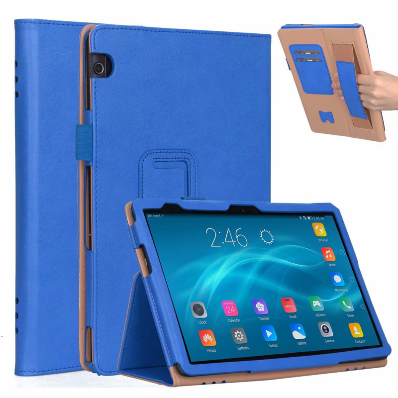 Full Protectors Luxury PU Leather Case For Huawei Mediapad T5 10 1 Folio Handstrap Cover 20PCS