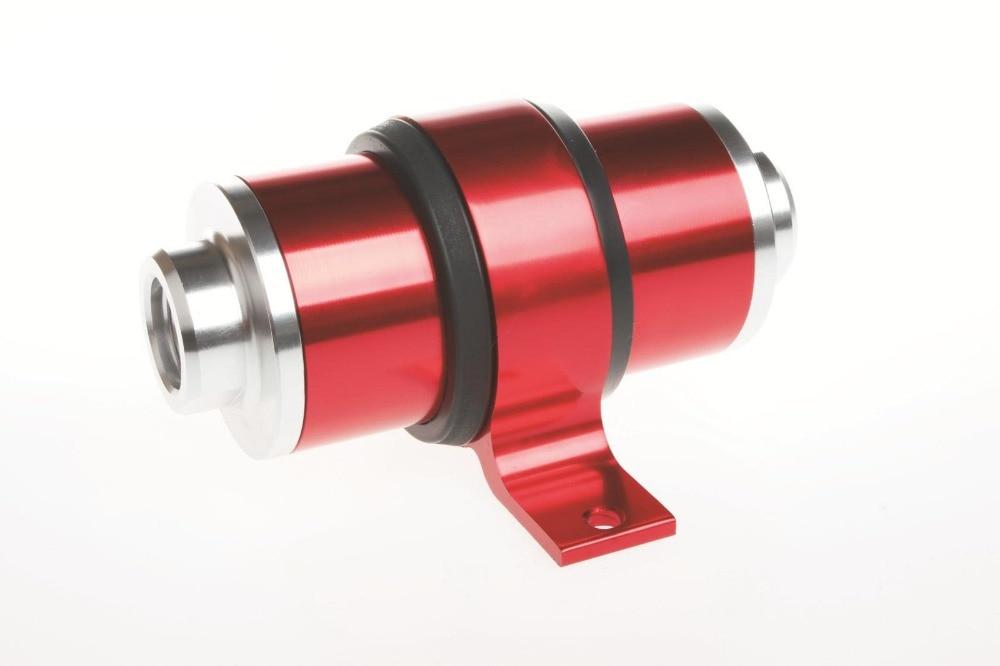 Φίλτρο καυσίμου αλουμινίου 6 8 10 High Flow For Motorsport Rally Racing + BRACKET Red