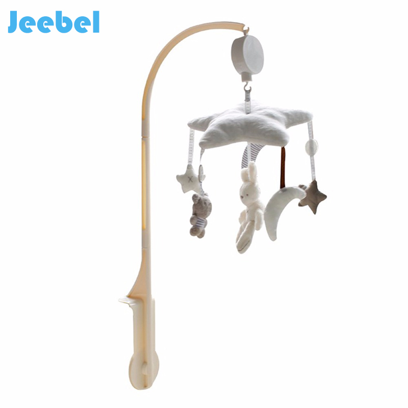 Jeebel Music Rotary Bed Bell Toy Newborn Holder Arm Music Box Plush Animal Crib Educational Baby Nursery Mobiles Bunny Children 35 songs rotary baby mobile crib bed bell toy battery operated music box newborn bell crib baby toy j2