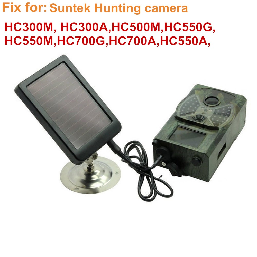 HC300M Solar Panel Battery External Power Charger for <font><b>Suntek</b></font> Hunting photo traps camera HC500M <font><b>HC700G</b></font> HC550M <font><b>HC700G</b></font> HC350M image