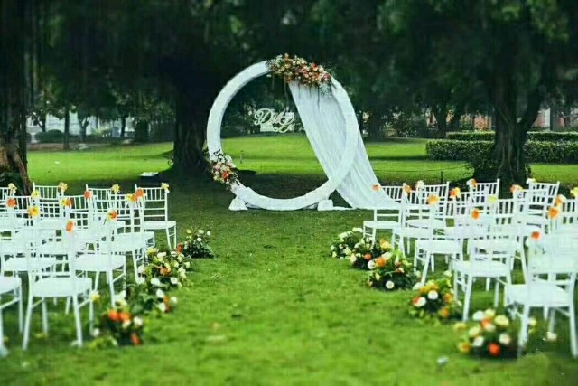 US $93 0  Wedding background large size wreath frame Bridal Large Iron  Round Ring Arches Frame Background Decoration Flower Door Frame-in Party  DIY
