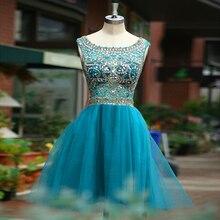 Vestido de Festa 2015 Freies Verschiffen Reale Abbildungen Perlen Kurze Heimkehr Kleider Kappen-hülsen Graduation Dresses Cocktailkleid