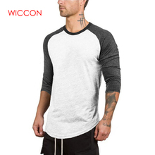367b7a5db21 2019 Plus Size 3 4 Sleeve Summer Casual Slim Elastic Soft Patchwork Long  Sleeve Men. 3 Colors Available