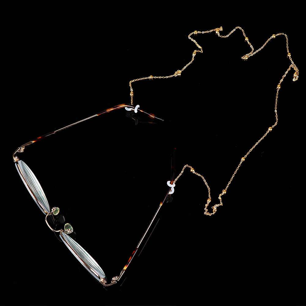 1PC ファッションシックなレディースゴールドシルバー眼鏡チェーンサングラス読書ビーズメガネチェーン Eyewears コードホルダーネック stra