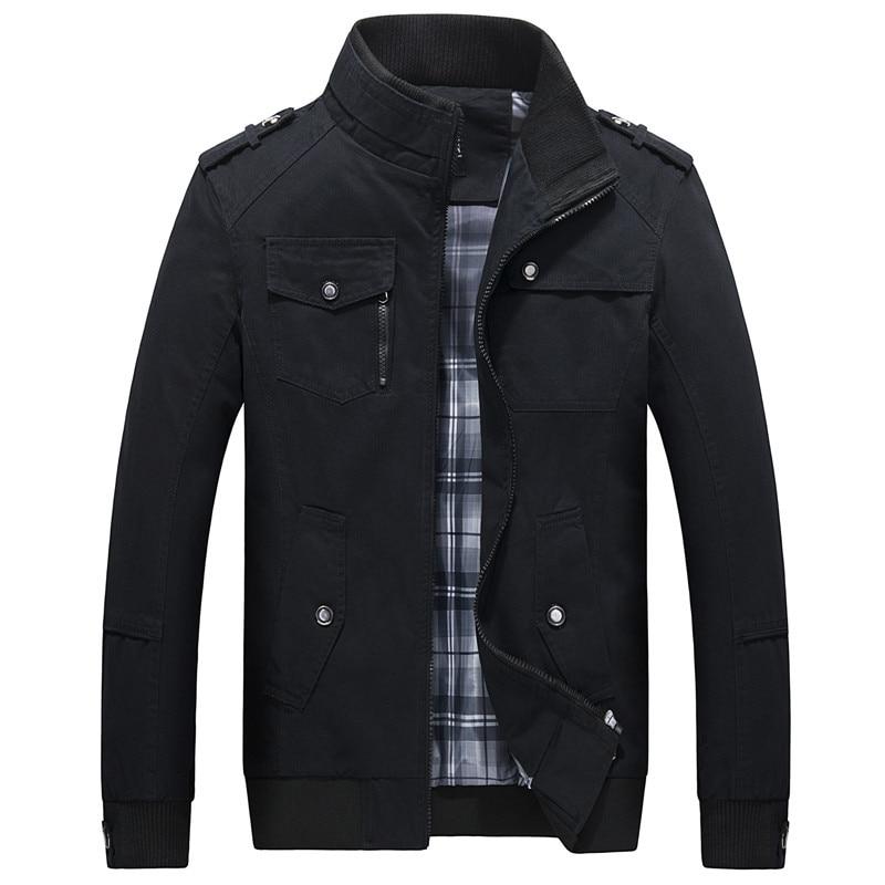 Quality Brand Men Jackets Coats Fashion Trench Coat Casual Silm Fit Overcoat Black Bomber Jacket Windbreaker Tactical Jackets
