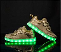 USB Luminous Sneakers Baskets Femme Led Shoes with Light Up Sole Kids Boys Glowing Sneakers Chaussure Enfant LED Slippers