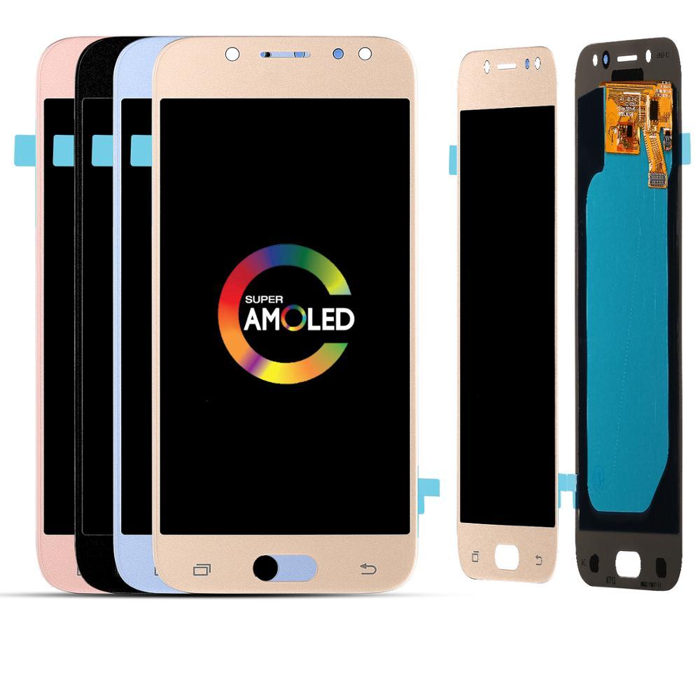 100% testé travail Super AMOLED LCD pour Samsung Galaxy LCD J5 2017 SM-J530 J530F LCD affichage + écran tactile numériseur assemblée