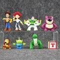 8 unids/set Moda Mini Toy Story Buzz Lightyear Sherif Woody Jessie Dinosaurio Rex Perro Slinky Colección Figura Regalo de Los Niños