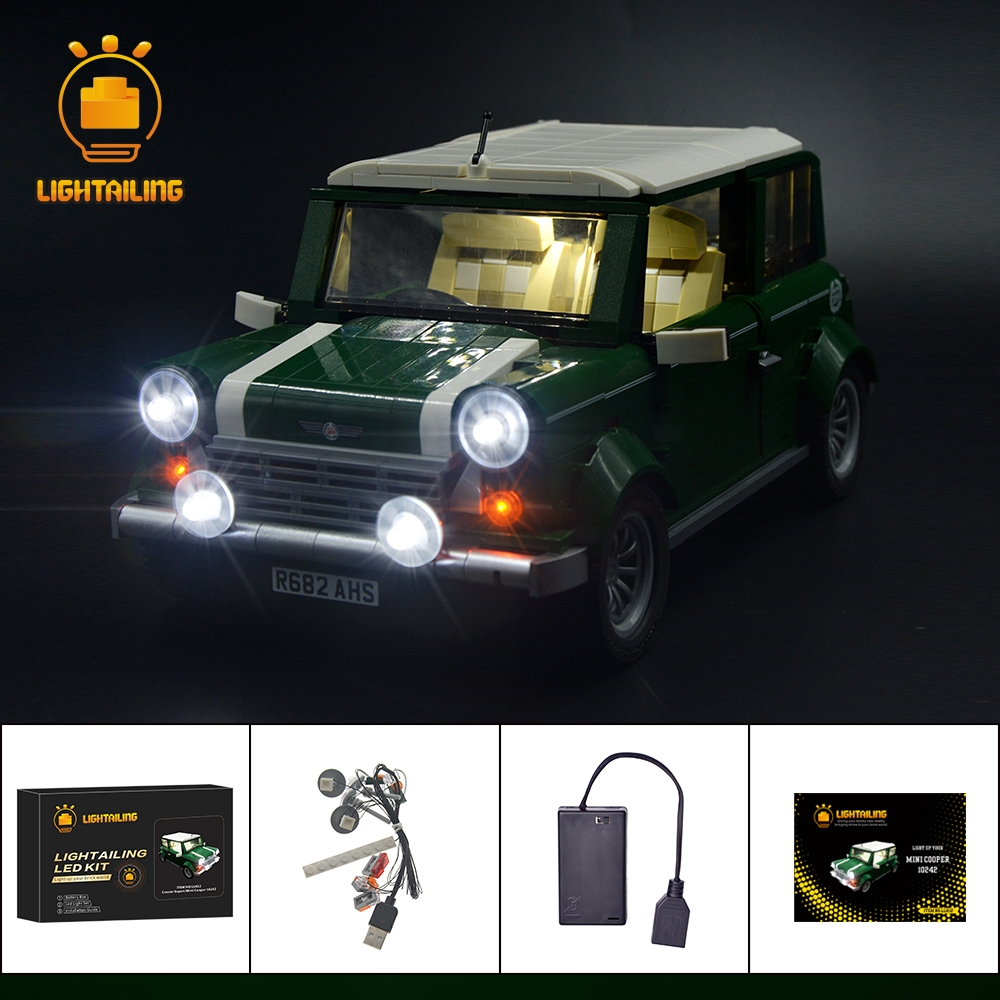 LIGHTAILING Led Light Up Kit For Mini Cooper Model Building Block Light Set Compatible With 10242 And 21002 led light up kit gor city model building block figures accessories kit toys for children compatible with lepin