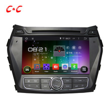 1024×600 Quad Core 5.1.1 Car DVD Player for Hyundai  IX45 Santa Fe with GPS Built-in WiFi DVR, Mirror Link SWC BT+Free TWO GIFTS