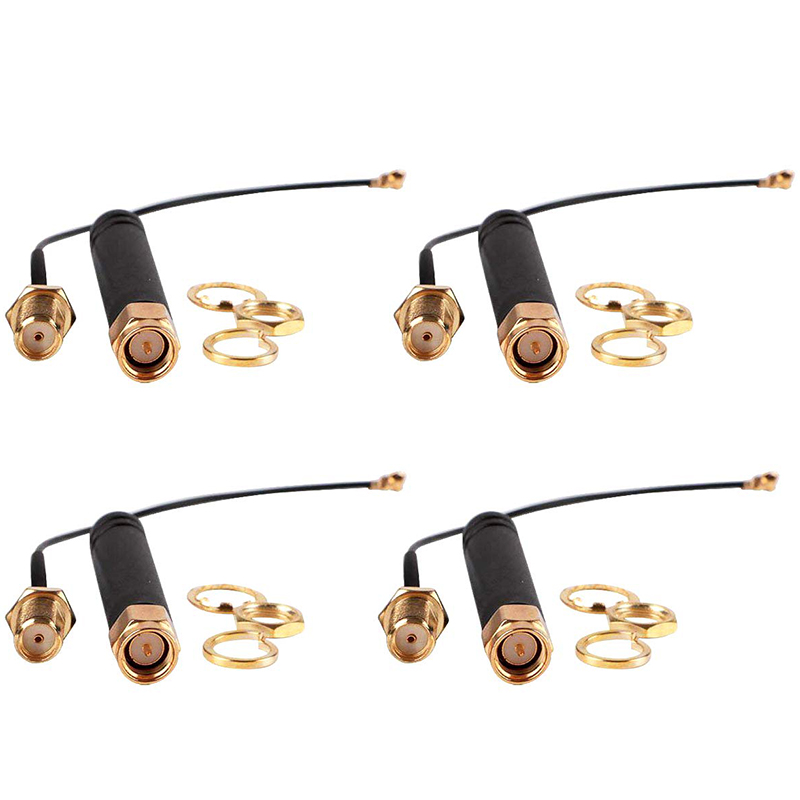 4PC//lot 2.4GHz Antenna for RP-SMA Male Wireless Router PCI U.FL to Pigtail Cable