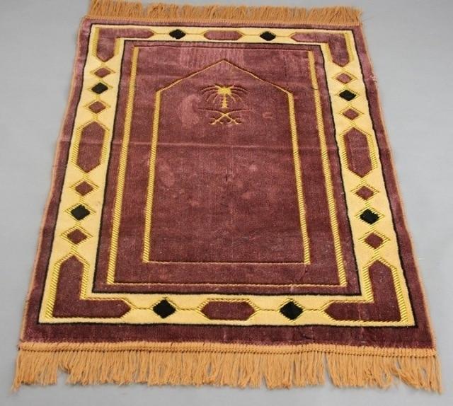 Thick Chenille Islamic Muslim Prayer Mat Blanket Salat Musallah Prayer Rug Tapis Tapete Banheiro Islamic Praying Carpet 70*110cm