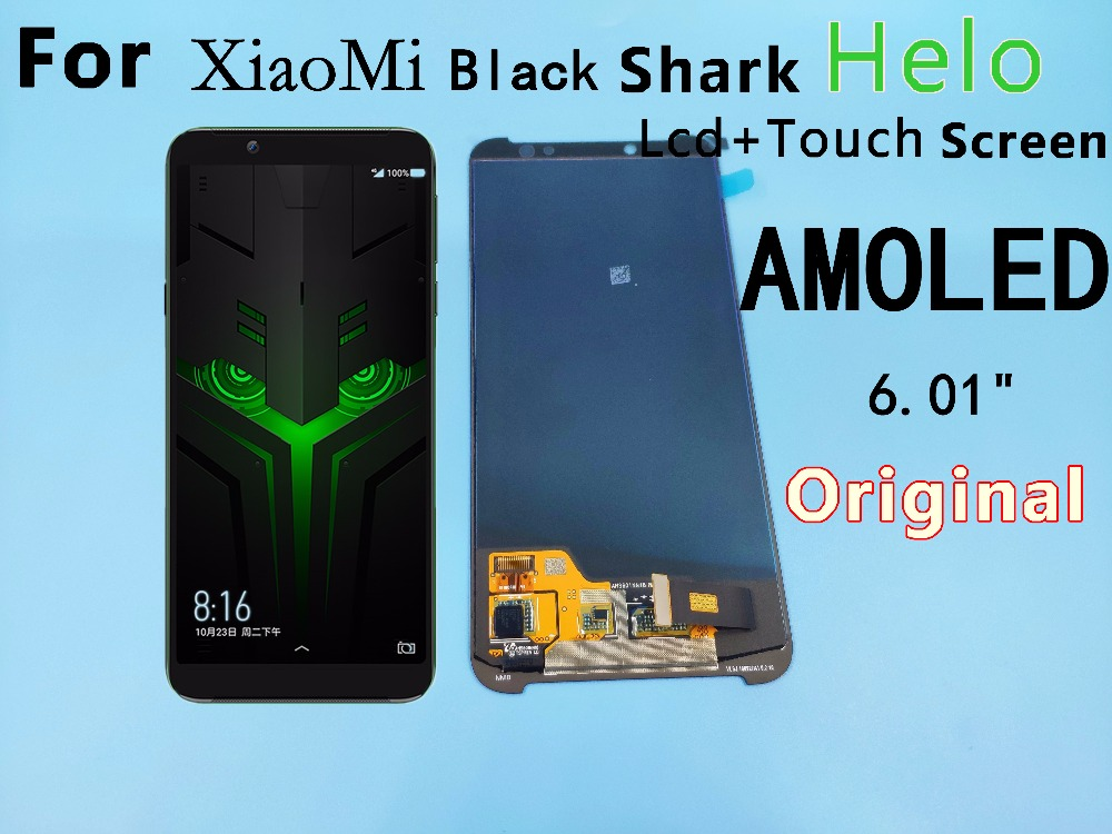 6 01 For Xiaomi BlackShark Helo LCD display touch screen digitizer assembly BlackShark Helo display Black